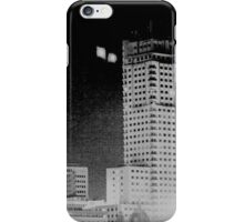 Madrid Spain city skyline at night black and white photograph iPhone Case/Skin