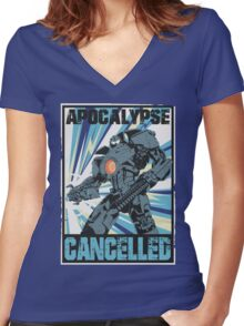Apocalypse Cancelled Women's Fitted V-Neck T-Shirt