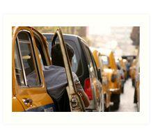 Calcutta cabbie Art Print