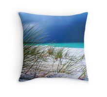 Bay of Firestorm Throw Pillow