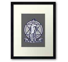 Dog of the Military: Flame Framed Print