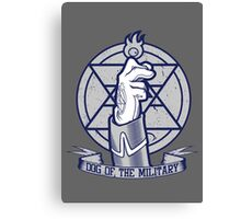 Dog of the Military: Flame Canvas Print