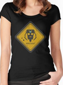 Caution: Irritant Women's Fitted Scoop T-Shirt