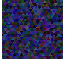 seamless pattern of colored triangles blue and other color Photographic Print