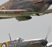 Hurricane And Spitfire Battle Of Britain Sticker