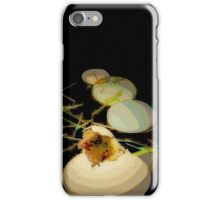 EGGS, modern  abstract, green, gold, black iPhone Case/Skin