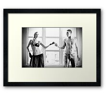 Electric Touch Framed Print