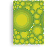 The Green bubbles Canvas Print