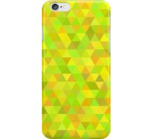seamless pattern of colored triangles yellow and other color iPhone Case/Skin