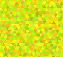 seamless pattern of colored triangles yellow and other color by Ann-Julia