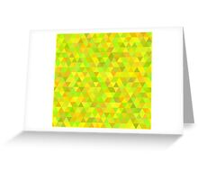 seamless pattern of colored triangles yellow and other color Greeting Card