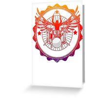 Rock Drums Drummer Wings Greeting Card