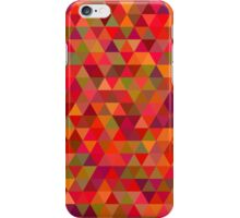 seamless pattern of pink triangles and other color iPhone Case/Skin