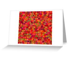 seamless pattern of pink triangles and other color Greeting Card