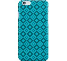 seamless pattern of rhombuses on blue background iPhone Case/Skin