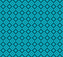 seamless pattern of rhombuses on blue background by Ann-Julia