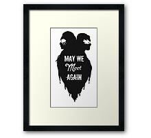 Silhouettes - May We Meet Again Framed Print