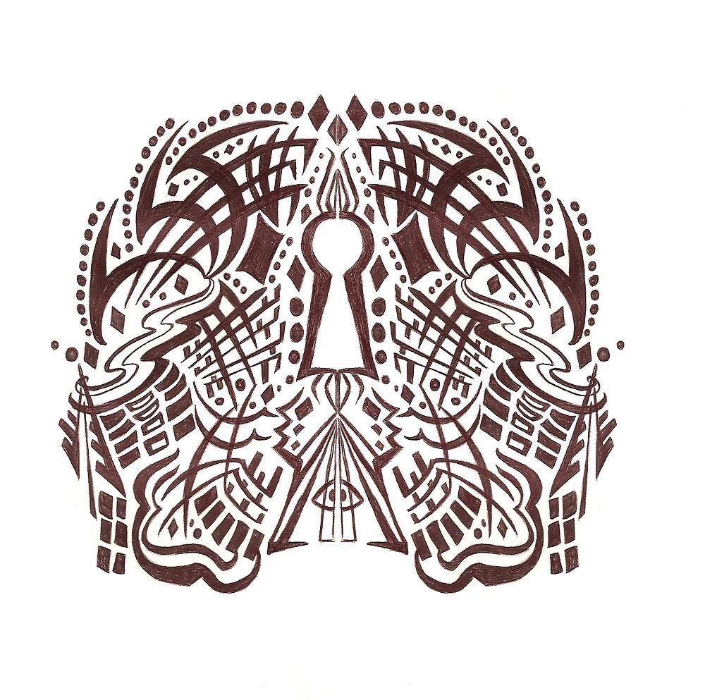 The Tribal Keyhole by GLENDAakaEYE