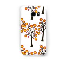 seamless pattern with autumn trees on the white background Samsung Galaxy Case/Skin