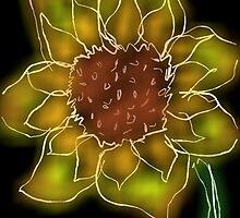 Sunflower at Night by namelessdoll