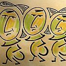 Three Fishers by rafi talby by RAFI TALBY