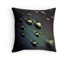 Meteorites asteroids in space surrealist futuristic science fiction scifi artistic square color analog 35mm film photo Throw Pillow