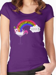 Forever Young Adult Official Logo Women's Fitted Scoop T-Shirt