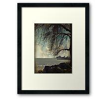 city under a tree Framed Print