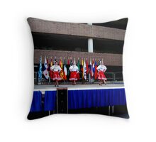 Dancing on the stage  Throw Pillow