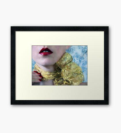 ~ gold ribbon ~ Framed Print