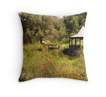 Water Gardens Throw Pillow