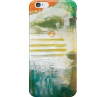 Abstract Orange Turqoise Print from Original Painting  iPhone Case/Skin