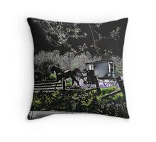 Amish Traveler Throw Pillow