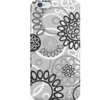 Pattern with black and white elements iPhone Case/Skin