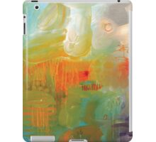 Abstract Orange Red Black Print from Original Painting iPad Case/Skin