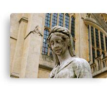 Outside Bath Abbey Canvas Print