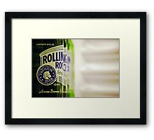 Rolling Rock: I Framed Print