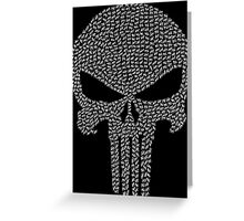 The Punisher - Tally Greeting Card