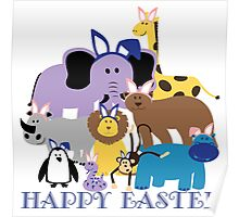 Happy Easter at the Zoo Poster
