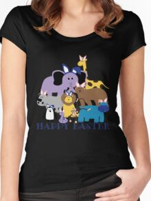 Happy Easter at the Zoo Women's Fitted Scoop T-Shirt