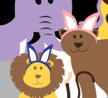 Happy Easter at the Zoo Sticker