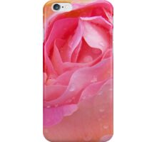 Pink Rose with raindrops iPhone Case/Skin