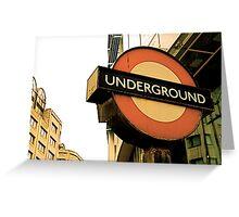 Tube Sign Greeting Card