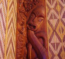 Inside The Whare Runanga by lezvee