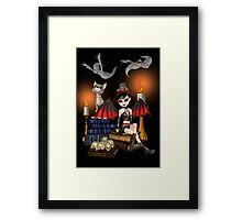 The Demon Witch, The Cat and The Ghosts Framed Print
