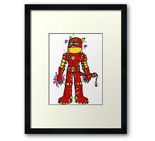 Iron cat Framed Print