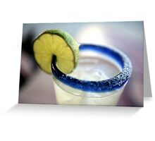 Margarita by the sea Greeting Card