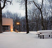 Heath Creek Rest Area MN  by Robert Meyers-Lussier