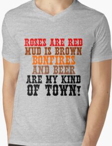 ROSES ARE RED MUD IS BROWN Mens V-Neck T-Shirt