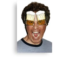 Will Ferrell beer glasses Canvas Print
